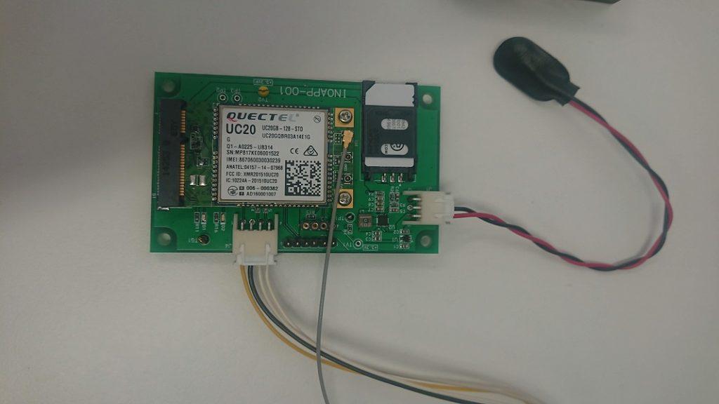 外部センサーのデータ送信用の3G基板モジュール